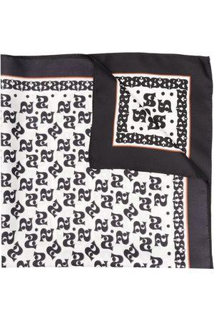 Sandro Monogram-print silk scarf