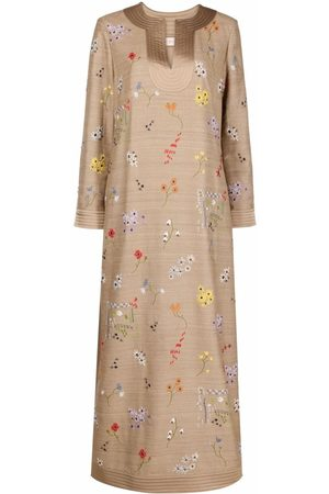 Tory Burch Women Printed Dresses - Embroidered-floral tunic dress