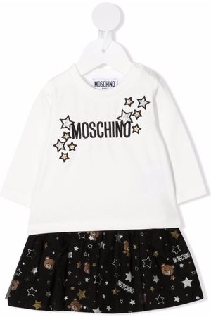 Moschino Baby Sets - Logo star embroidered skirt set
