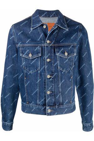 Sandro Men Denim Jackets - Logo-print denim jacket