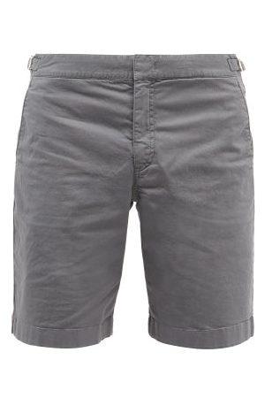 Orlebar Brown Dane Ii Cotton-blend Twill Shorts - Mens - Grey
