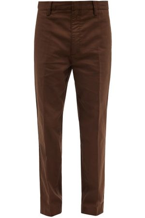 Frame Relaxed-leg Cotton-twill Trousers - Mens - Dark