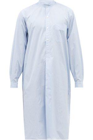 Charvet Stand-collar Striped Linen Tunic Nightshirt - Mens