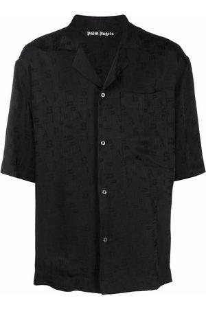 Palm Angels Men Short sleeves - Logo-print short-sleeved shirt