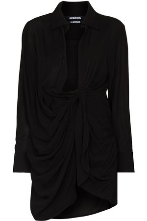 Jacquemus Women Party Dresses - LA ROBE BAHIA CLLR LS KNOT FRN