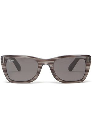 Ray Men Square - Ban - Carribean Square-frame Acetate Sunglasses - Mens - Grey