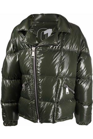 Khrisjoy Men Leather Jackets - Biker-style down-blend jacket