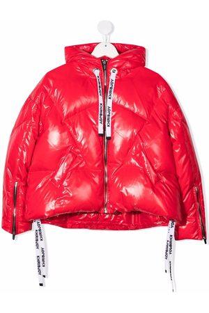 Khrisjoy KIDS Girls Puffer Jackets - Metallic puffer hooded jacket