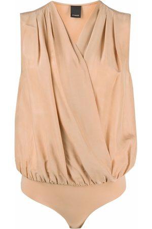Pinko V-neck wrap bodysuit - Neutrals