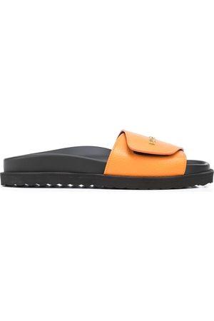 BUSCEMI Men Sandals - Logo-lettering leather slides - /