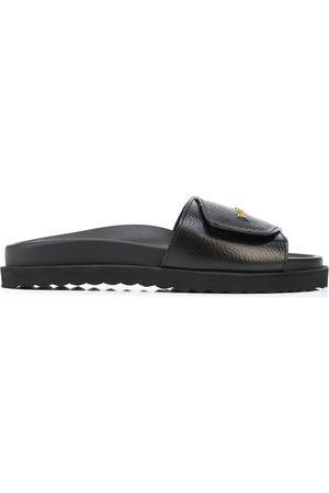 BUSCEMI Men Sandals - Logo-lettering leather slides