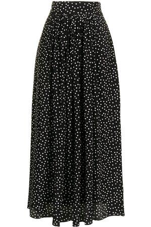 Cubus Women Printed Skirts - Polka-dot print silk skirt