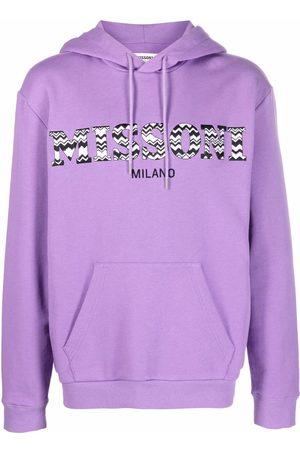 Missoni Men Hoodies - Logo-print pullover hoodie