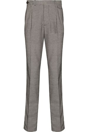 Brunello Cucinelli Men Formal Pants - Checkered darted tailored trousers