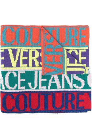 VERSACE Logo-print oversized scarf