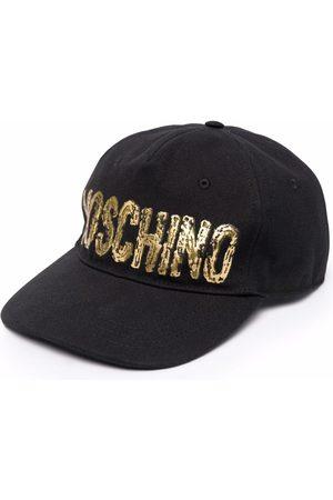 Moschino Men Caps - Painted logo-print cap
