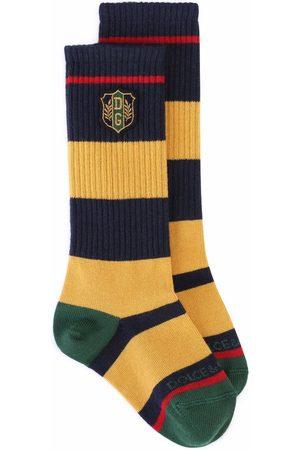 Dolce & Gabbana Socks - Logo-patch knit socks