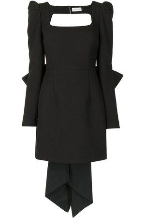 Rebecca Vallance Monique oversize-bow mini dress