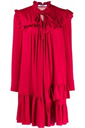 VIVETTA Women Asymmetrical Dresses - Asymmetrical ruffled-trim dress