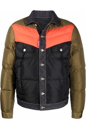 Dsquared2 Men Puffer Jackets - Contrast buttoned padded jacket