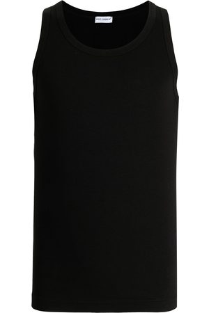 Dolce & Gabbana Men Tank Tops - Logo-tag tank top
