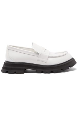 Alexander McQueen Leather Penny Loafers - Womens - Multi