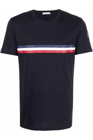 Moncler Men T-shirts - Cotton tricolour-detail T-shirt