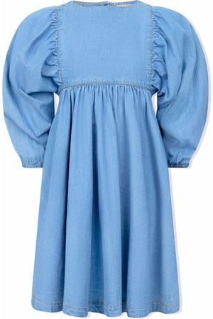 Molo Kids Caly long-sleeve denim dress