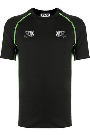 Msgm Graphic-print contrast-stitching T-Shirt