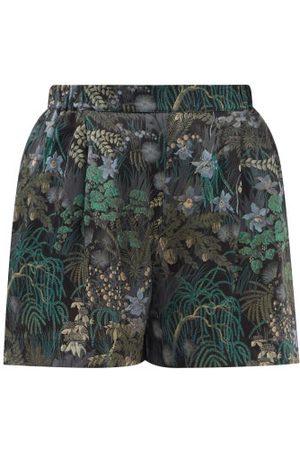 CARINE GILSON Floral-print Silk-chiffon Pyjama Shorts - Womens - Multi
