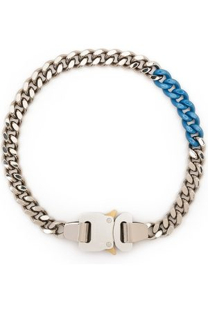 1017 ALYX 9SM Men Necklaces - Two-tone buckle curb chain necklace