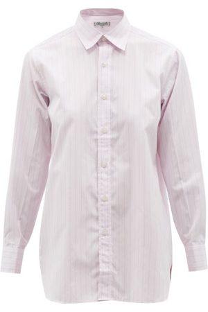 Charvet Striped Cotton-poplin Pyjama Shirt - Womens - Stripe