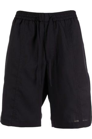 Emporio Armani Drawstring-waist virgin wool shorts
