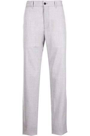 Emporio Armani Men Straight Leg Pants - High-waisted straight-leg trousers - Grey