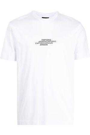 Emporio Armani Men Short Sleeve - Short-sleeved logo-print T-shirt