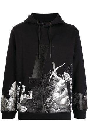 Emporio Armani Men Hoodies - Graphic-print cotton hoodie