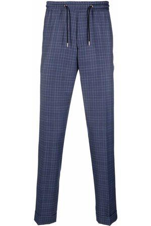 Paul Smith Check-print drawstring trousers