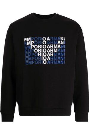 Armani Men Sweatshirts - Logo-print crew-neck sweatshirt