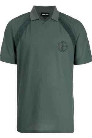 Armani Logo-embroidered polo shirt
