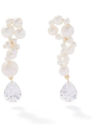 COMPLETEDWORKS Pearl & 14kt Gold-plated Recycled-silver Earrings - Womens - Pearl