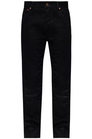 Balenciaga Women Straight - Logo-embroidered Straight-leg Jeans - Womens