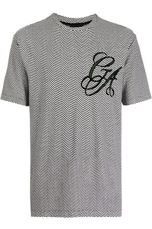 Armani Geometric-print logo T-shirt
