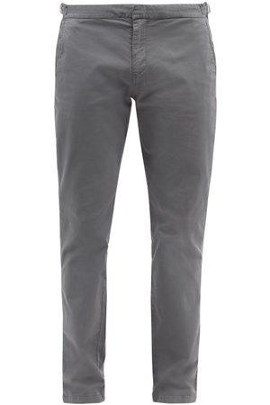 Orlebar Brown Men Skinny Pants - Campbell Slim-leg Cotton Twill Trousers - Mens - Grey