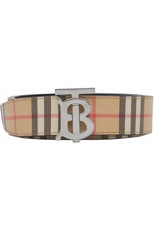 Burberry Men Belts - Monogram-buckle belt - Neutrals