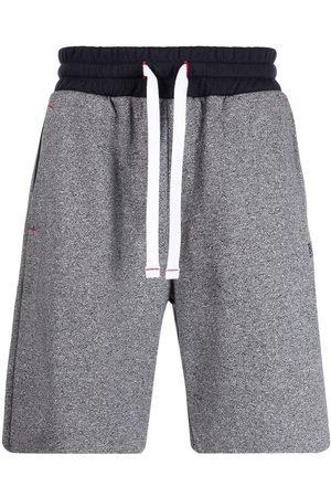 HUGO BOSS Men Sports Shorts - Logo-embroidered two-tone shorts