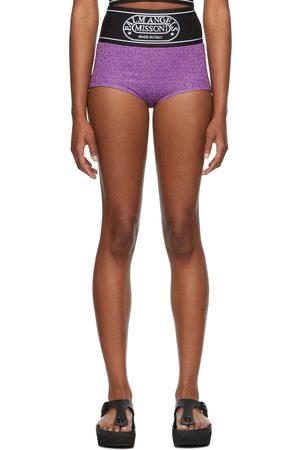 Palm Angels Women Culottes - Purple Missoni Edition Lurex Culotte Shorts