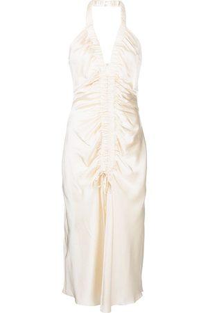 Nicholas Women Halterneck Dresses - Halterneck draped dress - Neutrals