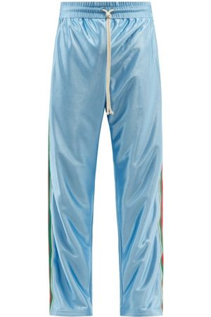Gucci Men Sweatpants - Web-stripe Jersey Track Pants - Mens