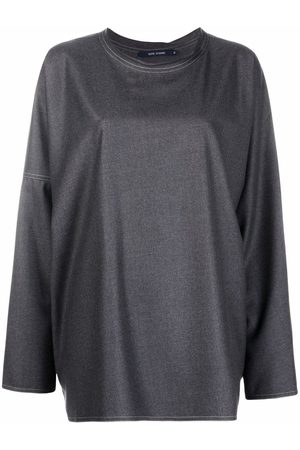 SOFIE D'HOORE Women Sweatshirts - Boxy-fit wool sweatshirt - Grey