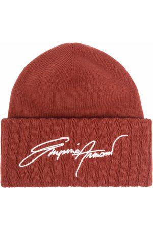 Emporio Armani Embroidered logo beanie